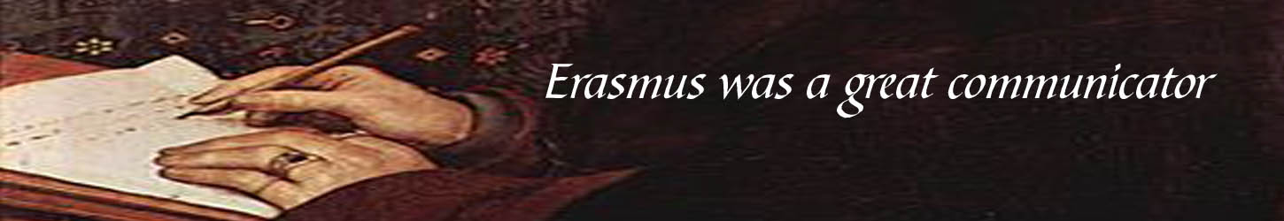 Erasmus writing