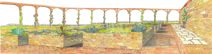Painting of the orioginal concept for the planning of the Herb Garden